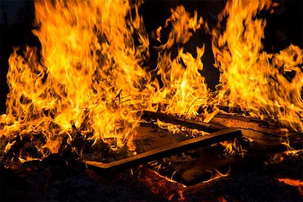 В Резекненском крае сгорел жилой дом