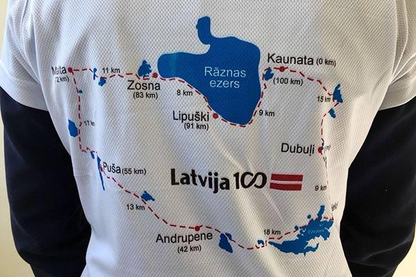 РТА и ГКПО организовали 100 километровый велопробег, в честь Латвии