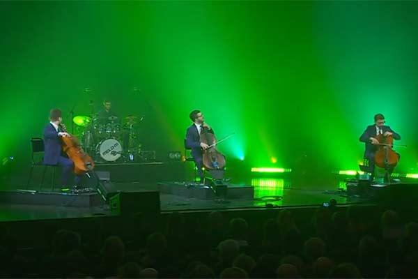 """ВИДЕО: Трио виолончелистов """"Melo-M"""" завершает концертный тур по Латвии в Резекне"""