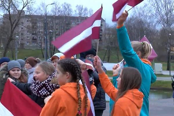 ВИДЕО: Празднование 100-летия Латвии в Резекне