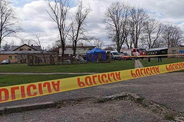 В Резекне прогремел взрыв: оцеплен жилой квартал