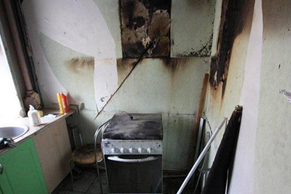 Пожар в Резекне: из-за забытой на плите еды пострадал человек